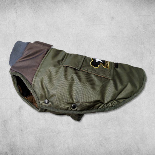 Military Bomber Jacket for French Bulldogs